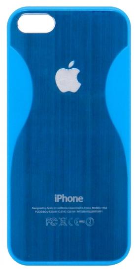 Apple Бампер пластик,2 волны по бокам 5/5S (77-2)