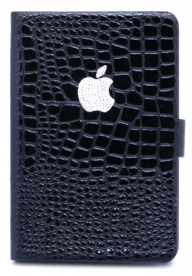 Apple чехол-книжка iPad mini (лак) (черная) (016-7-1)