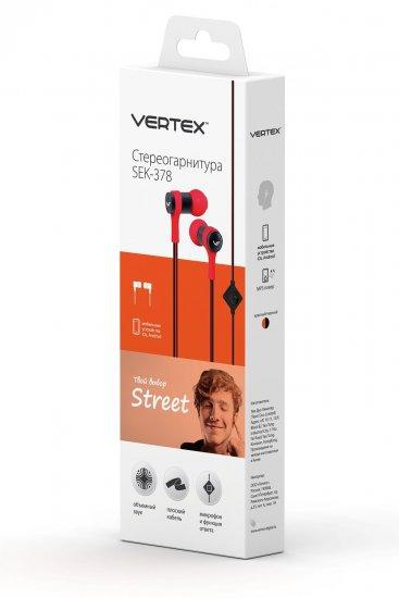 Vertex Street SEK-378, плоский кабель, красно-черная