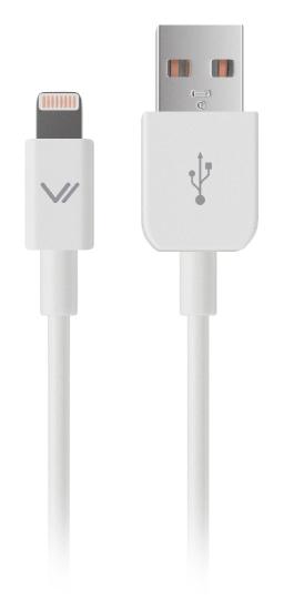 Apple USB 1А, дата кабель разъем для iPhone 6/6Plus и iPhone5/5S/5C MFI, бел