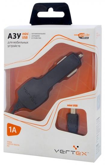 Vertex Slim Line ток заряда 1000-1200 mA для моб. тел.КПК MP-3 GPS разъем mini USB