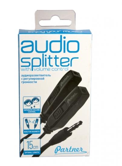 Partner Аудиоразветвитель на две пары наушников 3,5мм