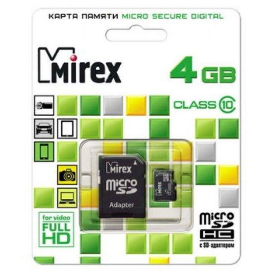 Mirex microSD 4Gb Class 10